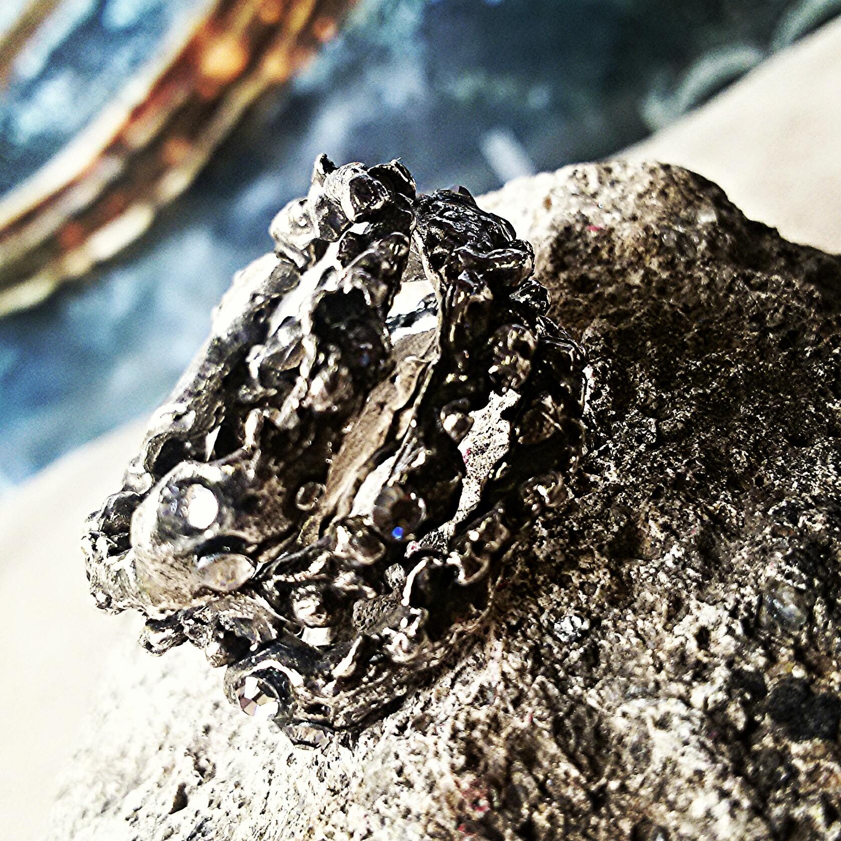 Anello roccia rock ring bagno argento oro mod a17 rr 32 for La roccia arredo bagno