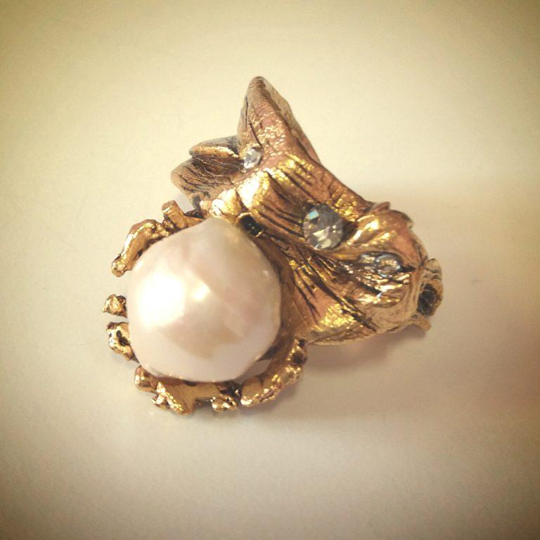 anello perla bigiotteria fiorentina