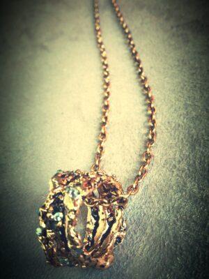 Collana Anello di roccia - bigiotteria artigianale fiorentina